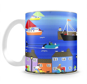 The puffer boats are in port by Gordon Barker Mug - Canvas Art Rocks - 1