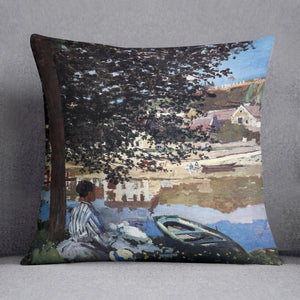 The river has burst its banks by Monet Throw Pillow