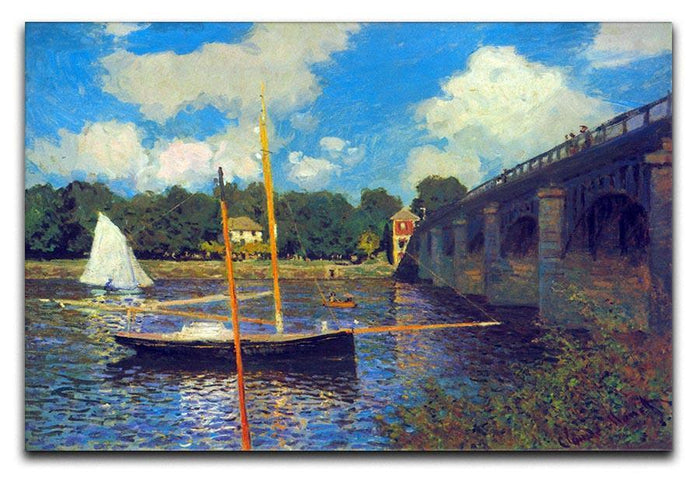 The road bridge Argenteuil by Monet Canvas Print or Poster