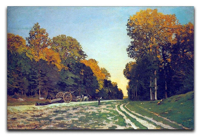 The road from Chailly to Fontainebleau by Monet Canvas Print or Poster