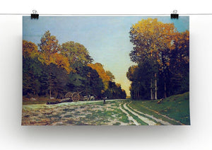 The road from Chailly to Fontainebleau by Monet Canvas Print & Poster - Canvas Art Rocks - 2