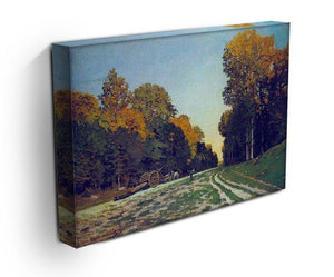 The road from Chailly to Fontainebleau by Monet Canvas Print & Poster - Canvas Art Rocks - 3