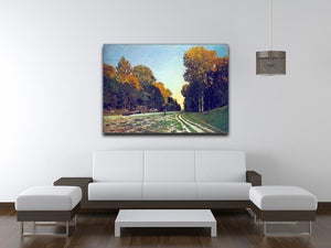 The road from Chailly to Fontainebleau by Monet Canvas Print & Poster - Canvas Art Rocks - 4