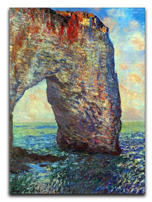 The rocky cliffs of etretat La Porte man 2 Canvas Print & Poster  - Canvas Art Rocks - 1