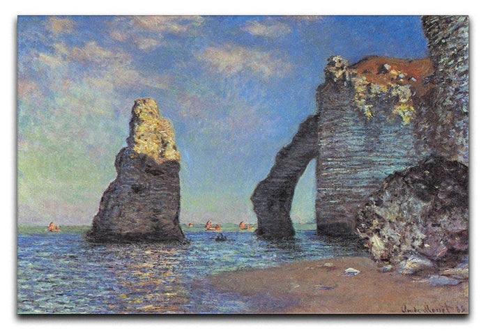 The rocky cliffs of etretat by Monet Canvas Print or Poster