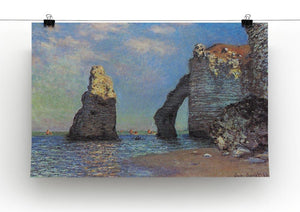 The rocky cliffs of etretat by Monet Canvas Print & Poster - Canvas Art Rocks - 2
