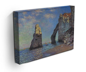 The rocky cliffs of etretat by Monet Canvas Print & Poster - Canvas Art Rocks - 3