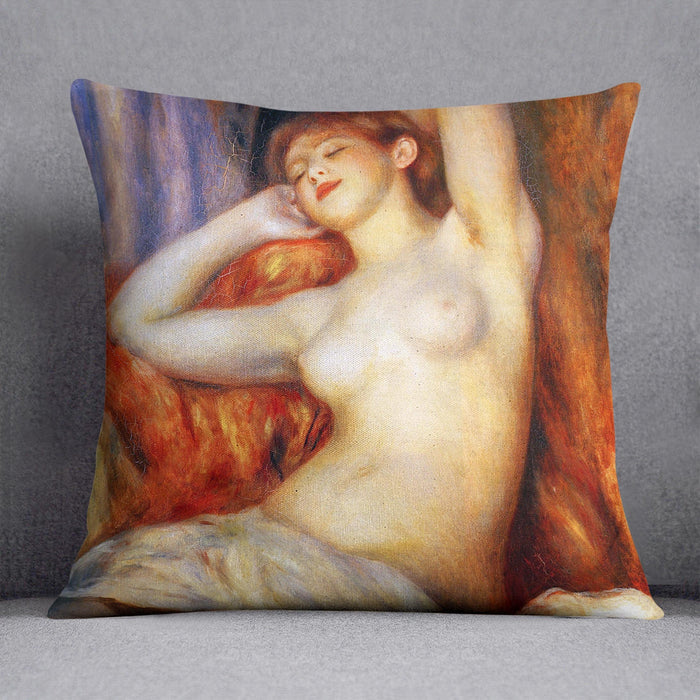 The sleeping by Renoir Throw Pillow