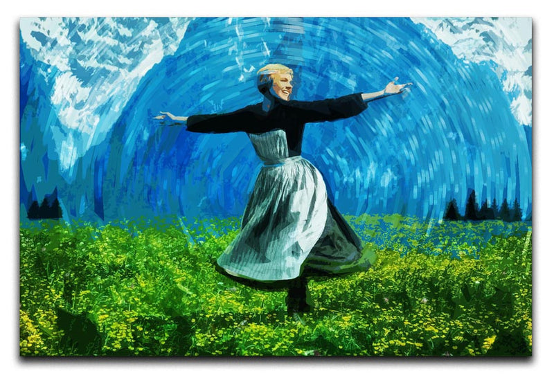The Sound Of Music Colored Print - Canvas Art Rocks - 1