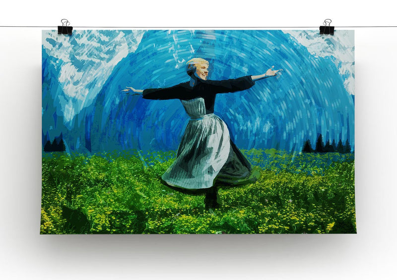 The Sound Of Music Colored Print - Canvas Art Rocks - 2
