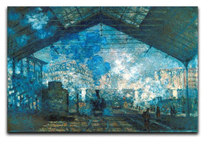 The station Saint Lazare by Monet Canvas Print & Poster  - Canvas Art Rocks - 1