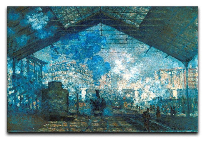 The station Saint Lazare by Monet Canvas Print or Poster