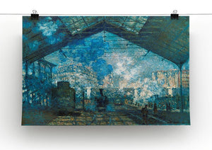 The station Saint Lazare by Monet Canvas Print & Poster - Canvas Art Rocks - 2