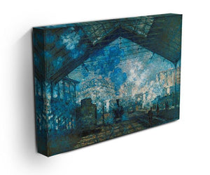 The station Saint Lazare by Monet Canvas Print & Poster - Canvas Art Rocks - 3