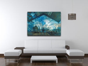 The station Saint Lazare by Monet Canvas Print & Poster - Canvas Art Rocks - 4