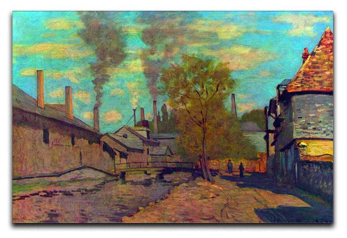 The stream of Robec by Claude Monet Canvas Print or Poster