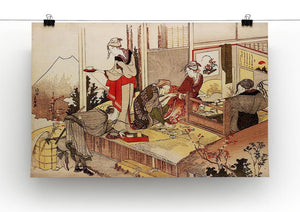 The studio of Netsuke by Hokusai Canvas Print or Poster - Canvas Art Rocks - 2