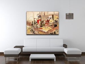The studio of Netsuke by Hokusai Canvas Print or Poster - Canvas Art Rocks - 4