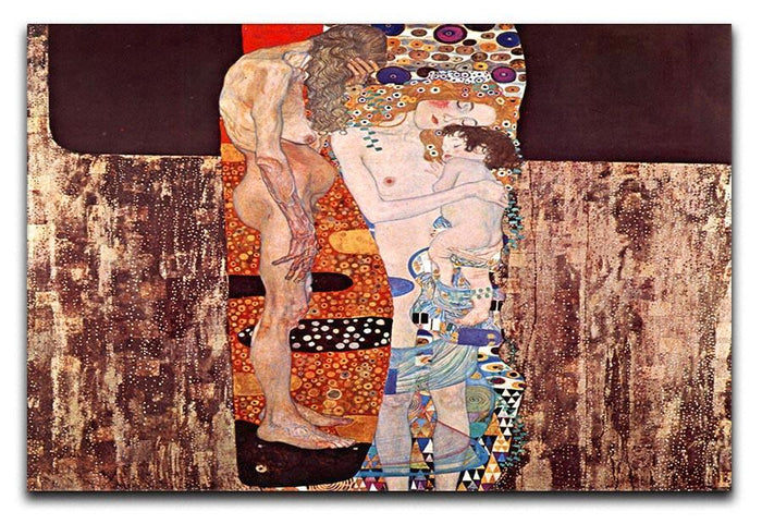 The three ages of a woman by Klimt Canvas Print or Poster