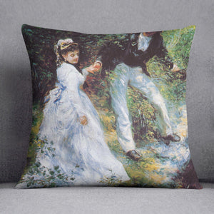 The walk by Renoir Throw Pillow