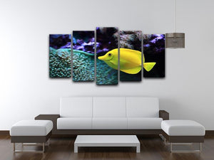The yellow fish 5 Split Panel Canvas  - Canvas Art Rocks - 3