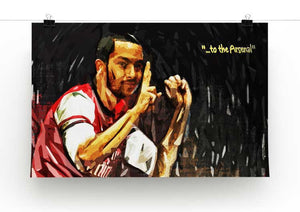 Theo Walcott 2-0 to the Arsenal Print - Canvas Art Rocks - 2