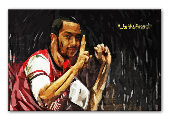 Theo Walcott 2-0 to the Arsenal Canvas Print or Poster