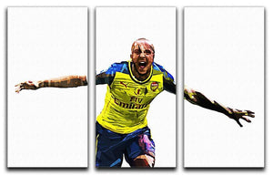 Theo Walcott Cup Final Goal 3 Split Panel Canvas Print - Canvas Art Rocks - 1