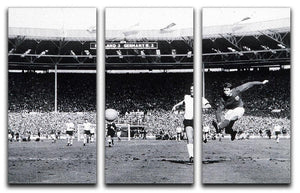 They think its all over Geoff Hurst Goal 3 Split Panel Canvas Print - Canvas Art Rocks - 1