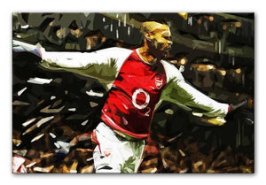 Thierry Henry Legend Print - Canvas Art Rocks - 1