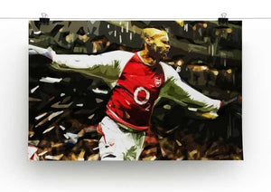 Thierry Henry Legend Print - Canvas Art Rocks - 2