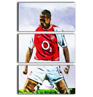 Thierry Henry Kneeslide 3 Split Panel Canvas Print - Canvas Art Rocks - 1