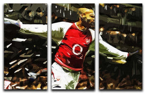 Thierry Henry Legend 3 Split Panel Canvas Print - Canvas Art Rocks - 1