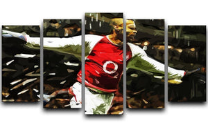 Thierry Henry Legend 5 Split Panel Canvas  - Canvas Art Rocks - 1