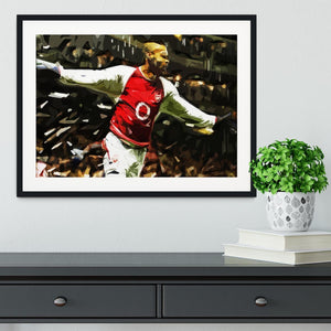Thierry Henry Legend Framed Print - Canvas Art Rocks - 1