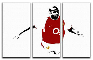 Thierry Henry Pop Art 3 Split Panel Canvas Print - Canvas Art Rocks - 1