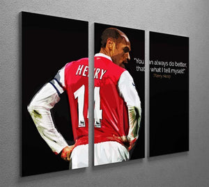 Thierry Henry You Can Alway Do Better 3 Split Panel Canvas Print - Canvas Art Rocks - 2