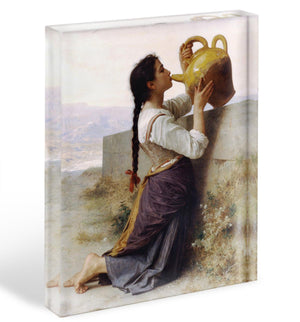 Thirst By Bouguereau Acrylic Block - Canvas Art Rocks - 1