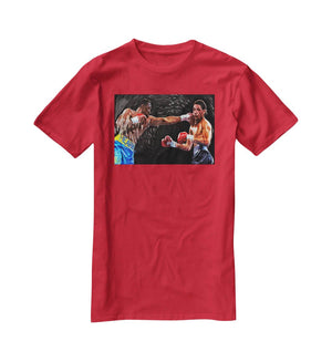 Thomas Hearns vs Virgil Hill T-Shirt - Canvas Art Rocks - 4