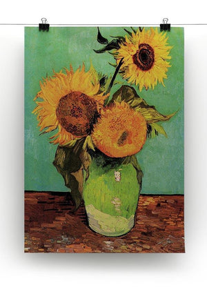 Three Sunflowers in a Vase by Van Gogh Canvas Print & Poster - Canvas Art Rocks - 2