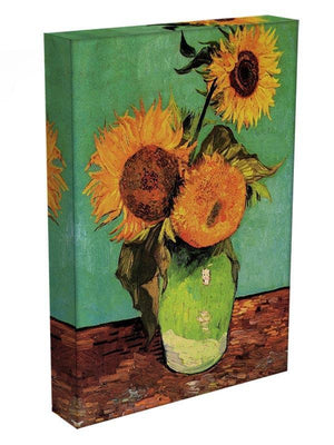 Three Sunflowers in a Vase by Van Gogh Canvas Print & Poster - Canvas Art Rocks - 3