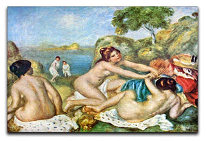 Three bathing girls with crab by Renoir Canvas Print or Poster  - Canvas Art Rocks - 1