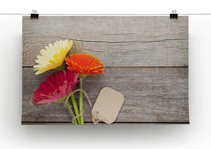 Three colorful gerbera flowers Canvas Print or Poster - Canvas Art Rocks - 2