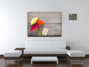 Three colorful gerbera flowers Canvas Print or Poster - Canvas Art Rocks - 4