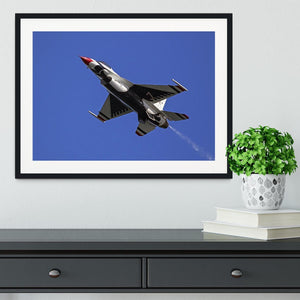 Thunderbirds F-16 fighter Framed Print - Canvas Art Rocks - 1