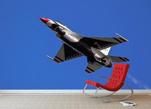 Thunderbirds F-16 fighter Wall Mural Wallpaper - Canvas Art Rocks - 2