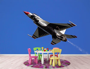 Thunderbirds F-16 fighter Wall Mural Wallpaper - Canvas Art Rocks - 3