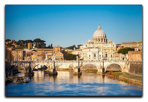 Tiber and St Peter s cathedral Canvas Print or Poster  - Canvas Art Rocks - 1