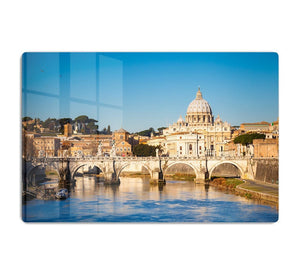 Tiber and St Peter s cathedral HD Metal Print