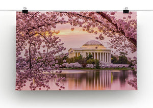 Tidal Basin and Jefferson Memorial cherry blossom season Canvas Print or Poster - Canvas Art Rocks - 2